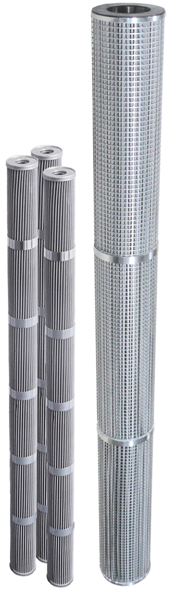 Stainless steel metal filter elements